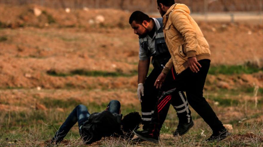 Represión israelí en Gaza deja 2 muertos y 40 heridos