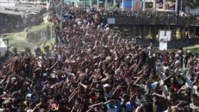 Los Rohingya protestan en Bangladés, no quieren regresar a Myanmar