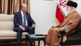 El presidente de Irak visita al Líder de Irán