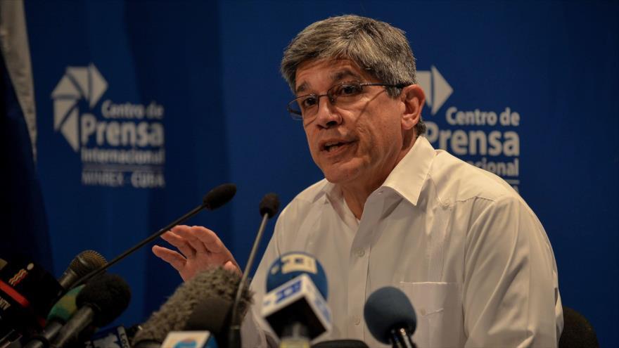 Carlos Fernández de Cossío, director general para EE.UU. de la Cancillería de Cuba, en una reunión en La Habana, 2 de noviembre de 2018. (Foto: AFP)