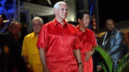 Pence amenaza a China con más sanciones si no cambia su política