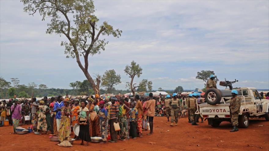Personas desplazada hacen fila para recibir raciones, Bria, República Centroafricana, 26 de septiembre de 2017 (Foto: The Washington Post)