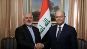 Zarif: Irán e Irak están comprometidos a cooperación ganar-ganar