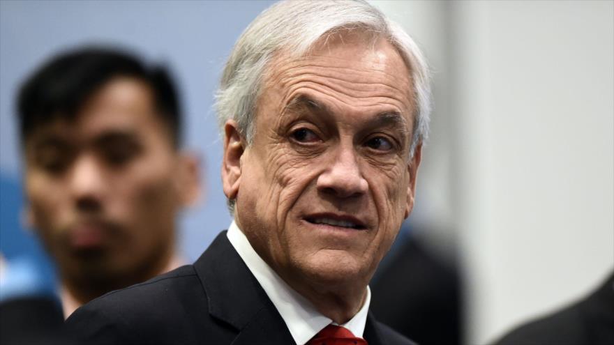 El presidente de Chile, Sebastián Piñera, durante una reunión, 14 de noviembre de 2018.