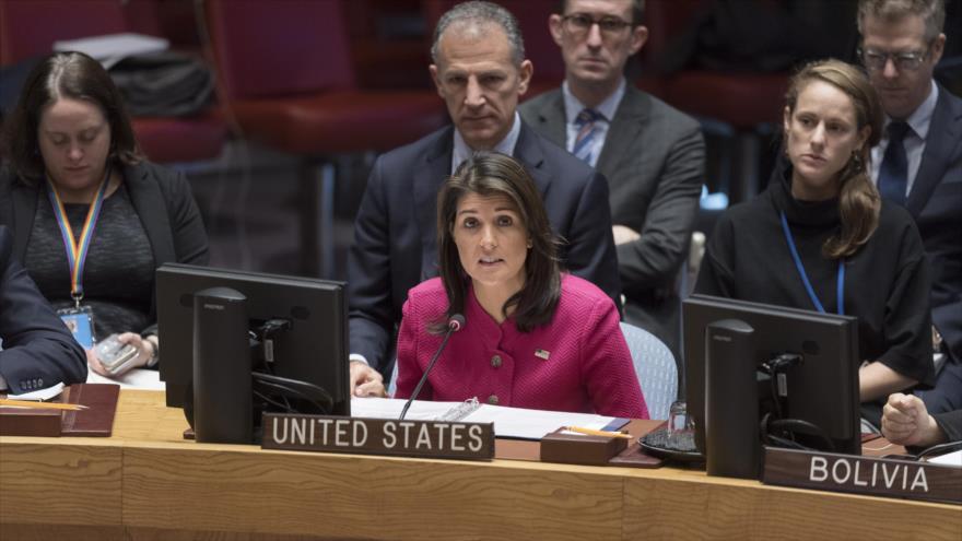 Irán: Nikki Haley es adicta a iranofobia para tapar crímenes de Israel