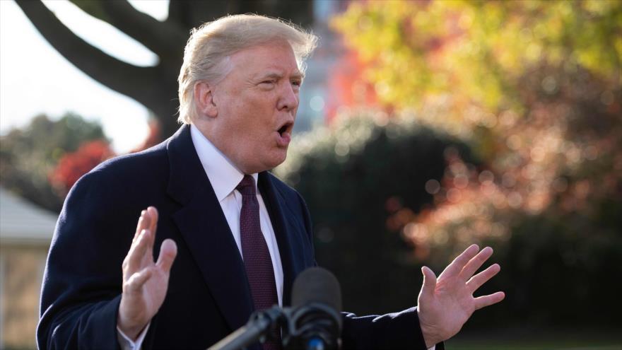 El presidente de EE.UU., Donald Trump, habla con los periodistas en la Casa Blanca, Washington, 20 de noviembre de 2018. (Foto: AFP)