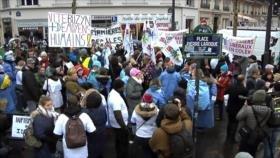 Huelga nacional de enfermeros franceses contra política sanitaria