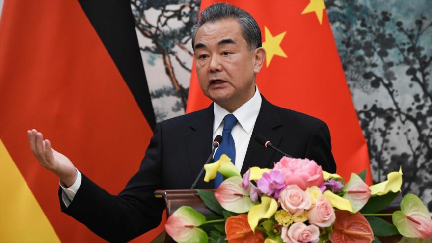 El canciller chino, Wang Yi, en una conferencia de prensa en Pekín (capital), 13 de noviembre de 2018. (Foto: AFP)