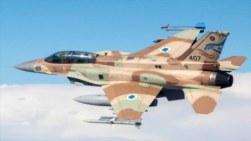 Un avión de combate del régimen de Israel.