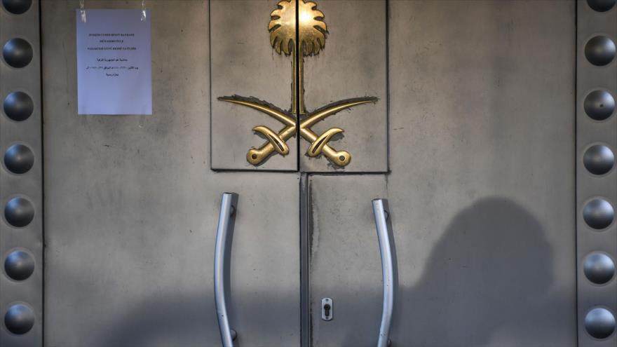 La entrada del consulado saudí en Estambul, Turquía, 29 de octubre de 2018. (Foto: AFP).