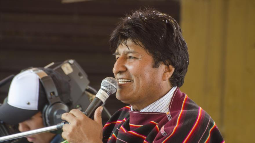Presidente de Bolivia, Evo Morales, en acto público en Cotoca, Bolivia, 22 de noviembre de 2018 (Foto: ABI).