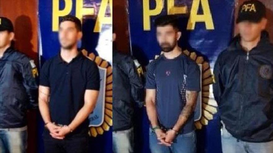 Agentes de la Policía federal de Argentina detienen a los hermanos Salomon por supuestos nexos con Hezbolá.