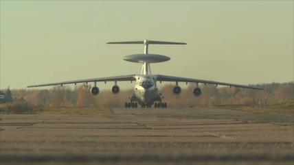 Primer vídeo divulgado de avión espía ruso A-50 a corta distancia