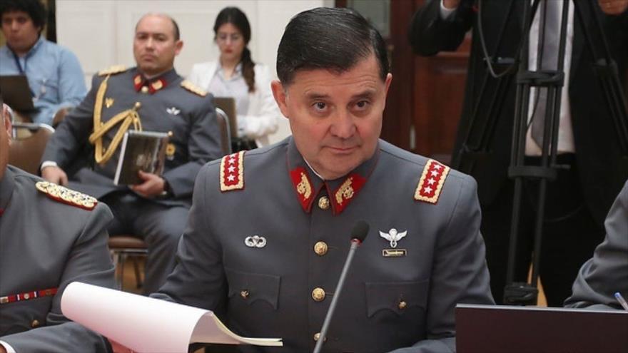El comandante en jefe del Ejército de Chile, Ricardo Martínez.