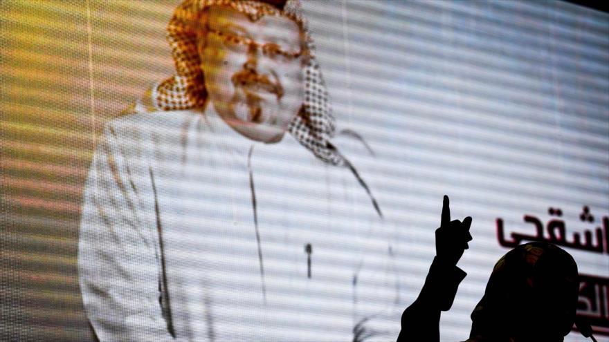 Un evento celebrado con ocasión al asesinato de Jamal Khashoggi, Estambul, 11 de noviembre de 2018. (Foto: AFP)