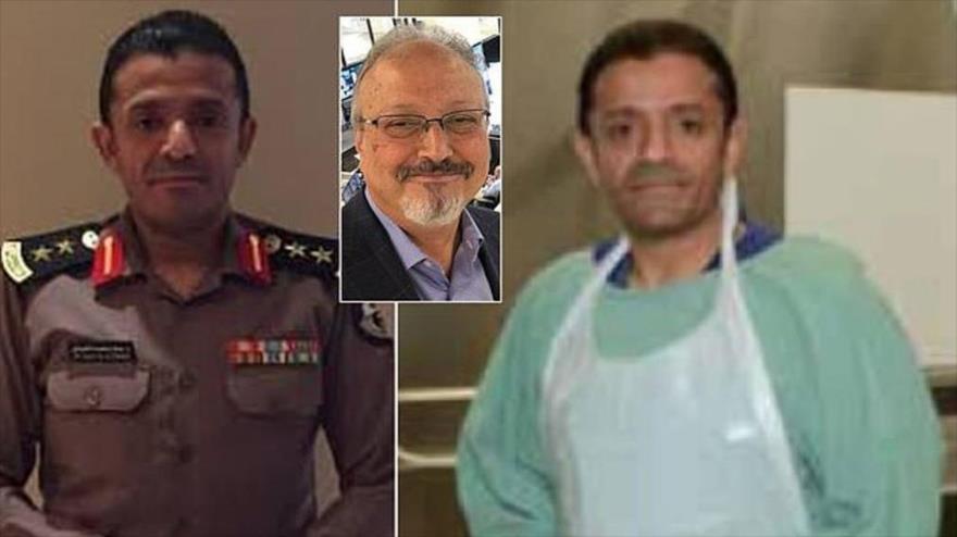 Fotos del forense militar saudí, Salah Al-Tubaigy, acusado de participar en el asesinato de Jamal Khashoggi.