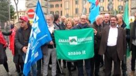 Médicos italianos realizan una huelga para reclamar sus derechos