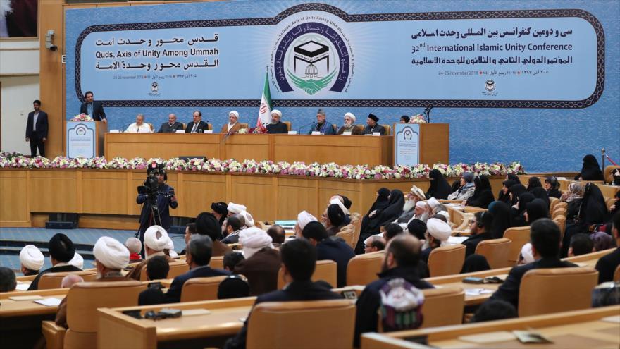 Comienza la 32.ª Conferencia Internacional de la Unidad Islámica en Teherán, capital persa, 24 de noviembre de 2018. (Foto: president.ir)