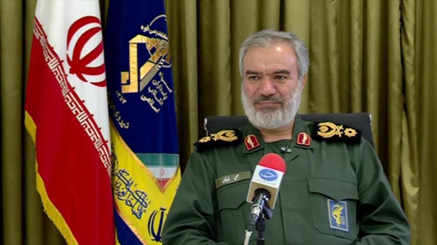 El coordinador adjunto del Cuerpo de Guardianes de la Revolución Islámica (CGRI) de Irán, el contralmirante Ali Fadavi.