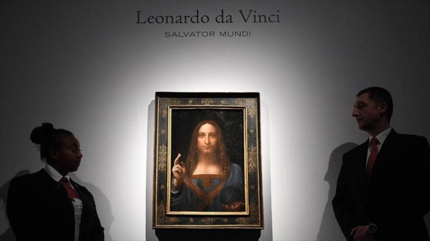 La obra 'Salvator Mundi', del artista Leonardo Da Vinci.
