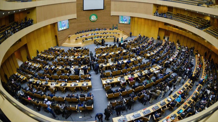 Una sesión plenaria de la Asamblea de la Unión Africana (UA) en Adís Abeba, capital de Etiopía, 17 de noviembre de 2018. Foto: AFP.
