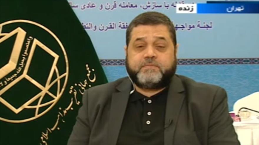 Osama Hamdan, responsable de Asuntos Exteriores del HAMAS, entrevista con una cadena iraní en Teherán, capital persa, 24 de noviembre de 2018.