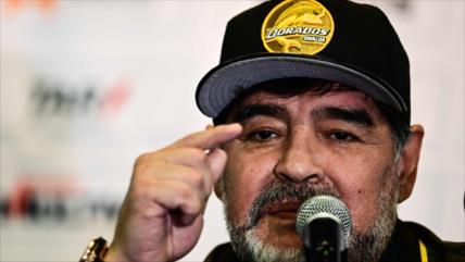 Maradona responsabiliza a Macri de violencia en la Superfinal
