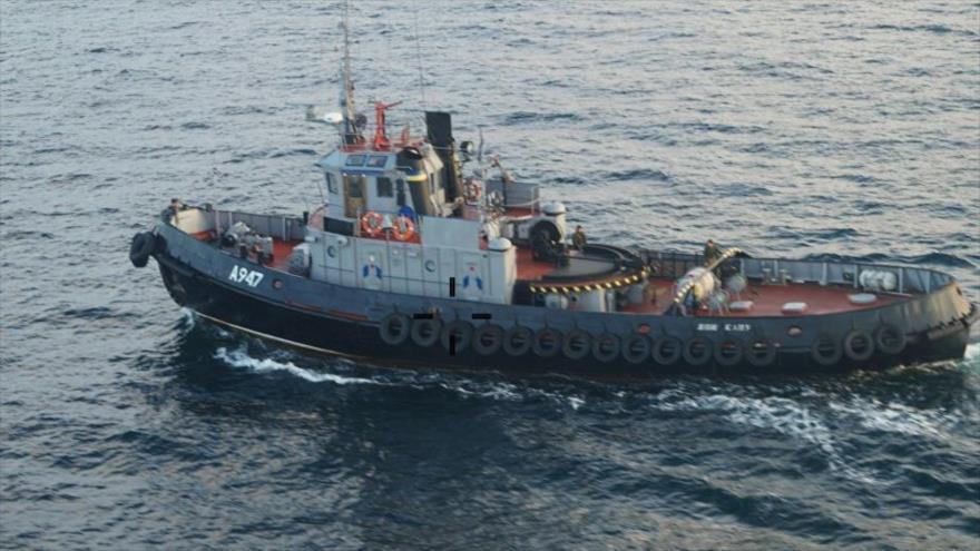 Un buque ucraniano fotografiado cerca de Crimea, 24 de noviembre de 2018. (Foto: servicio de prensa del Departamento de la Guardia Fronteriza de Crimea)