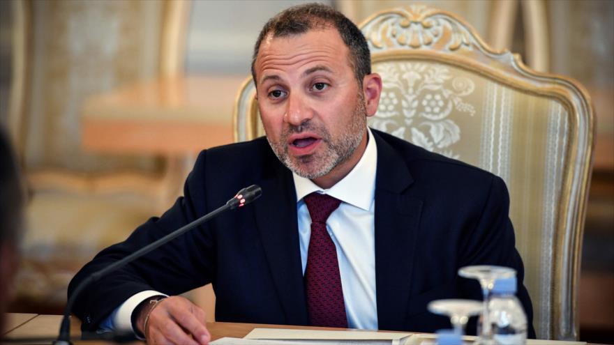 El canciller libanés, Yebran Basil, durante una reunión en Moscú, capital de Rusia, 20 de agosto de 2018. (Foto: AFP)