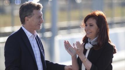 'CFK supera a Macri en intención de voto de cara a elecciones'