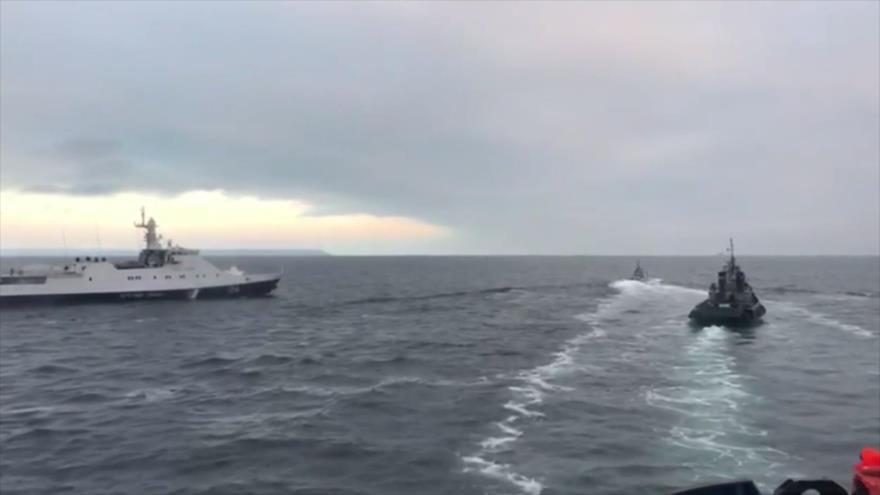 Rusia confirma haber detenido a 3 buques ucranianos