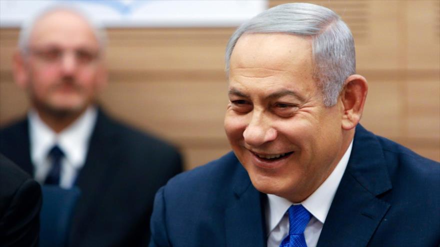 El primer ministro israelí, Benjamín Netanyahu, en una reunión con su gabinete, 19 de noviembre de 2018. (Foto: AFP)
