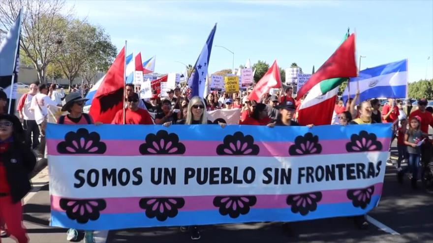 Marcha a favor de los migrantes, mientras EEUU cierra la frontera