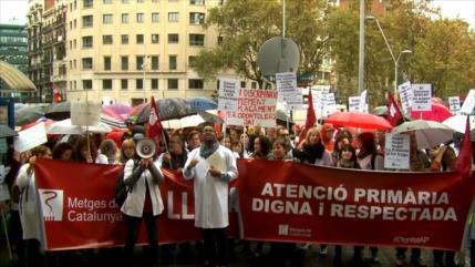 Huelga de médicos en Cataluña para denunciar deterioro de sanidad