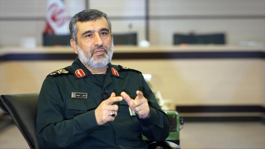 El comandante de la División Aeroespacial del Cuerpo de Guardianes de la Revolución Islámica (CGRI), el general de brigada Amir Ali Hayizade.