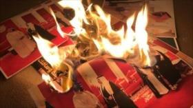 Bareiníes queman fotos de Bin Salman en rechazo a su vista al país