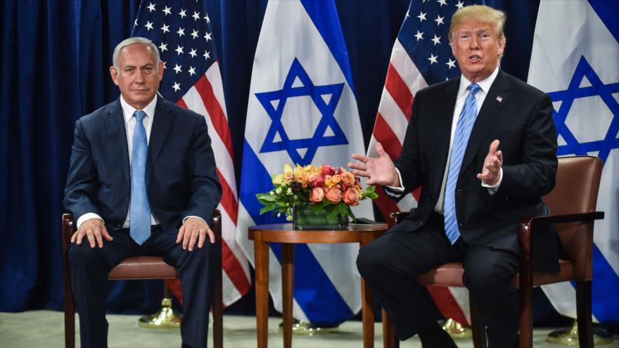 El presidente de EE.UU., Donald Trump, se reúne con el premier de Israel, Benjamín Netanyahu, en Nueva York, 26 de septiembre de 2018. (Foto: AFP)