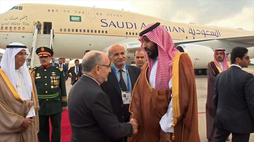 Bin Salman llega a Argentina, donde la Justicia estudia detenerlo