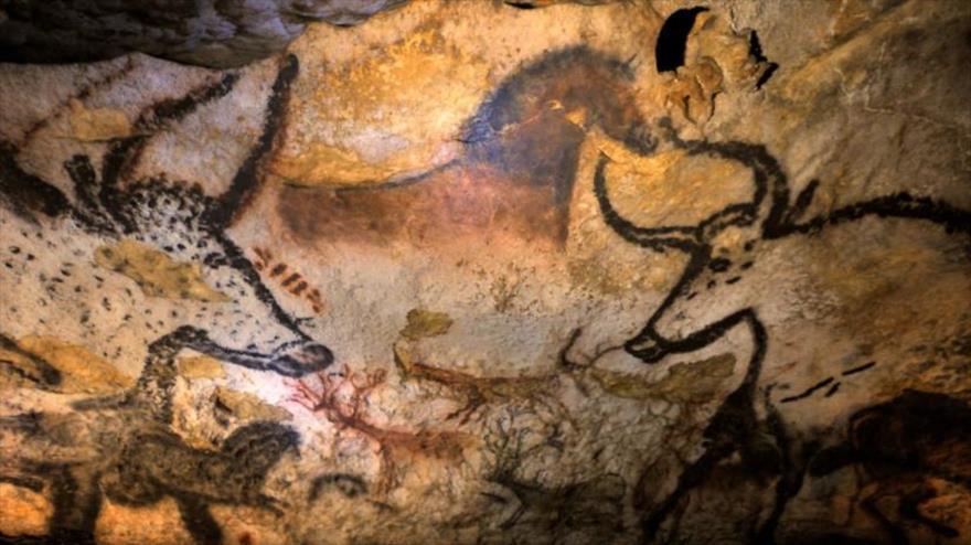 Pinturas rupestres en la cueva de Lascaux, Francia, el 12 de septiembre de 2010.