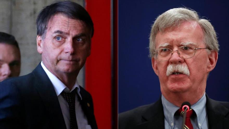 Bolsonaro y Bolton sopesarán cómo lidiar con influencia de China