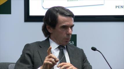 José María Aznar califica a independentismo de golpista