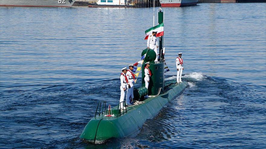 Incorporación de submarino de la calse Qadir a la Armada de Irán, 29 de noviembre de 2018.