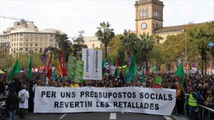 Funcionarios públicos secundan 4.ª jornada de huelga en Cataluña