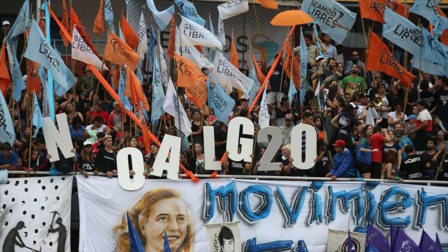 Argentinos no dan bienvenida a líderes del G20