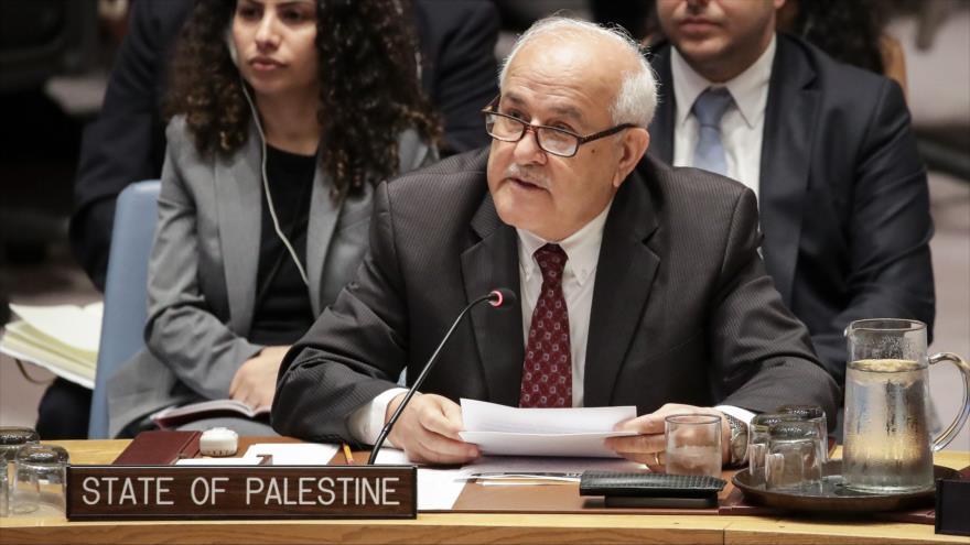 """Palestina llama a impedir que Israel actúe """"encima de ley"""""""