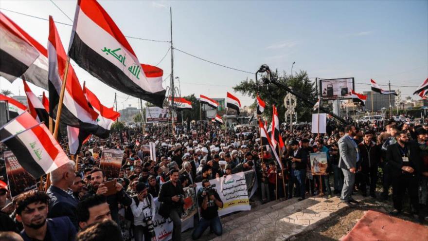 Miles de iraquíes condenan agresión de Arabia Saudí a Yemen