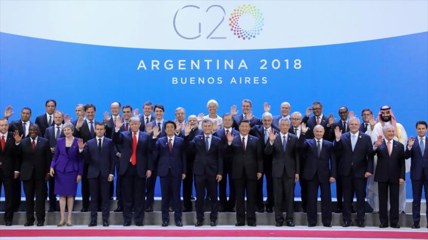 Muhamad Bin Salman se queda solo en la foto de la cumbre del G20
