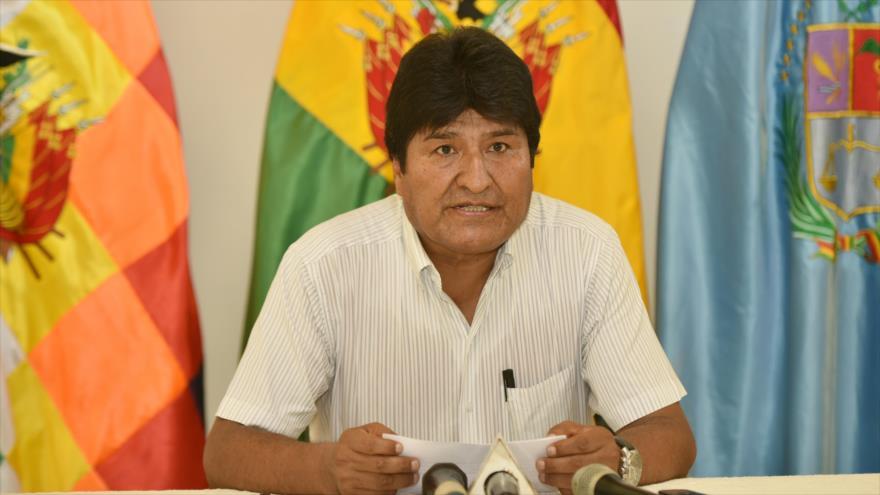 El presidente boliviano, Evo Morales, en una rueda de prensa en Villa Tunari, en la provincia de Cochabamba, 30 de noviembre de 2018 (Foto: ABI).