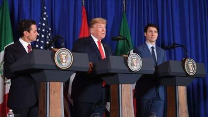 Trump, Peña Nieto y Trudeau firman el nuevo NAFTA