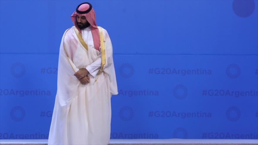 El príncipe heredero saudí, Muhamad bin Salman, en la cumbre del G20 en Argentina, 30 de noviembre de 2018. (Foto: AFP)